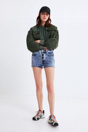 Zara Spodenki jeansowe z guzikami