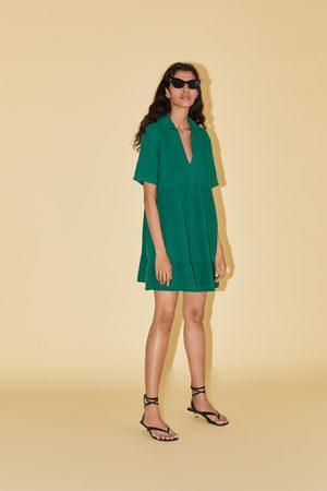 Zara Sukienka mini z przeszyciami