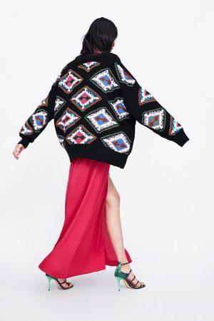Zara Sweter w geometryczny deseń
