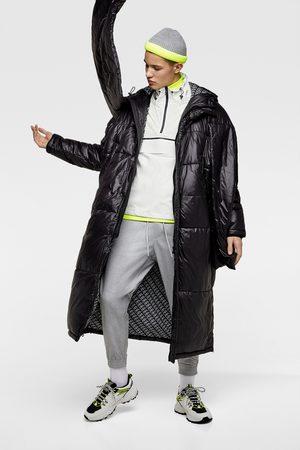 Zara Oversized puffer three quarter length coat