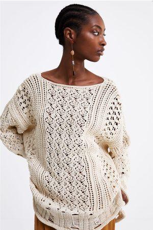 Zara Sweter oversize z tkaniny strukturalnej