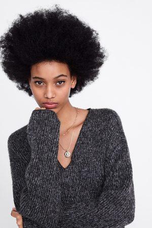 Zara Sweter w marmurkowy deseń