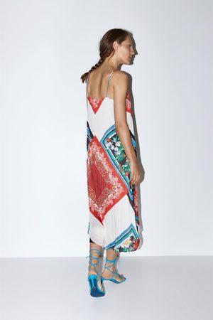 Zara Sukienka z nadrukiem na ramiączkach