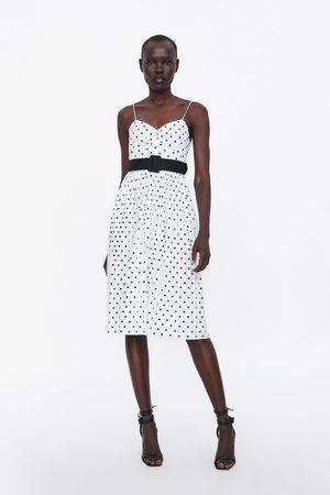Zara Plisowana sukienka w kropki