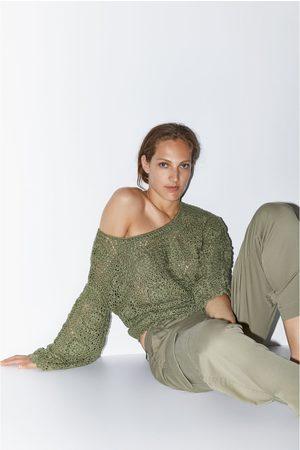 Zara Sweter z dzianiny szydełkowej z limitowanej edycji