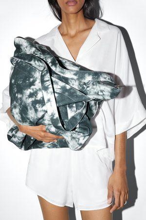 Zara Torebka typu worek z tkaniny farbowanej metodą tie dye