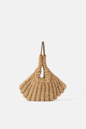 Zara Mini torebka do ręki typu worek z koralikami