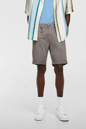 Zara Bermudy z tkaniny o splocie ukośnym