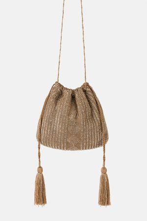 Zara Mini torebka listonoszka z błyszczącym wykończeniem