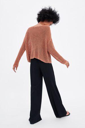 Zara Ażurowy sweter