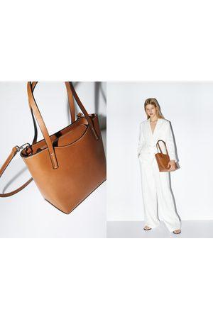 Zara Sztywna mini torebka typu shopper