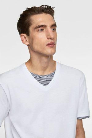 Zara Koszulka z łączonych tkanin