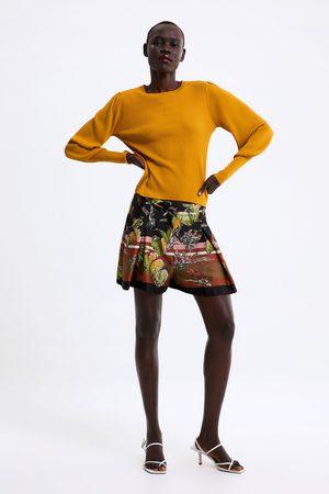 Zara Sweter z bufiastym rękawem