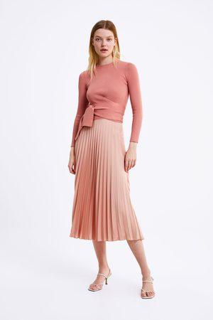 Zara Sweter z wiązaniem w pasie