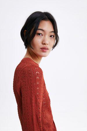 Zara Sweter wykonany ściegiem pointelle z limitowanej edycji