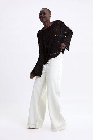 Zara Sweter z ażurowej dzianiny