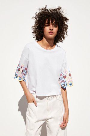 Zara Koszulka z haftem
