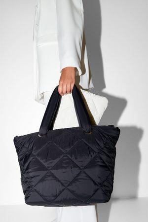 Zara Kobieta Torby shopper - Pikowana torba typu shopper
