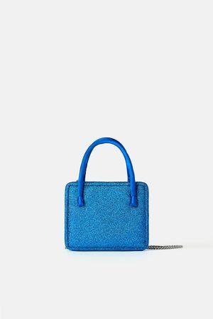 Zara Mini torebka listonoszka z błyszczącymi akcentami z kolekcji blue