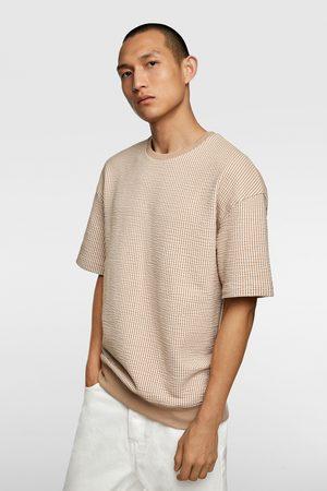 Zara Bluza z tkaniny gofrowanej