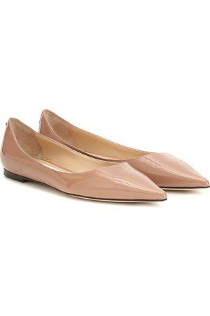 Jimmy Choo Love Flat patent leather ballet flats