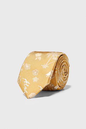 Zara Mężczyzna Krawaty - Wąski żakardowy krawat