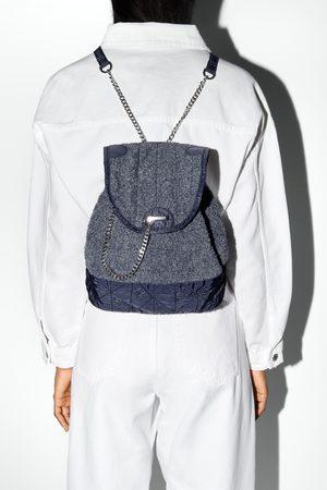 Zara Plecak z tkaniny frotté