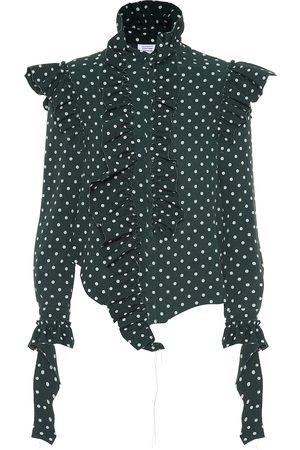 Vetements Kobieta Koszule - Polka dot crêpe shirt
