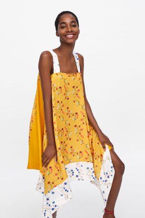 Zara Asymetryczna sukienka w kwiaty