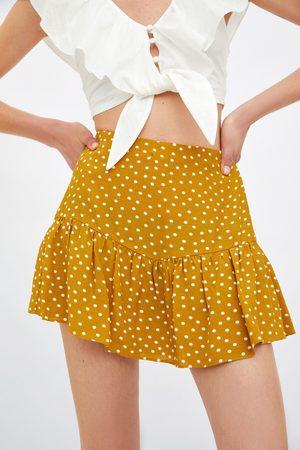 Zara Krótkie spódnicospodnie z nadrukiem