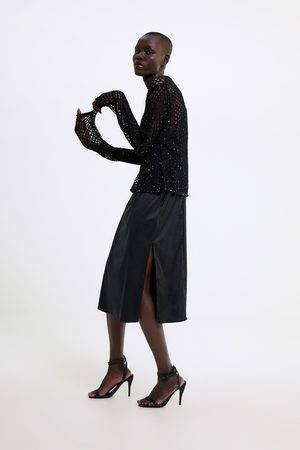 Zara Sweter z siateczki z cekinami