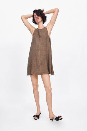 Zara Lniana sukienka