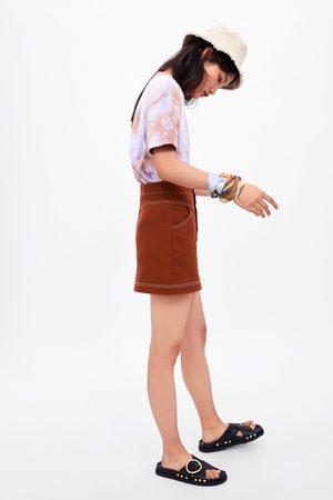 Zara Spódnica mini z przeszyciami
