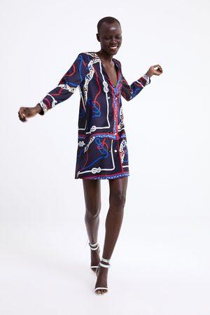Zara Sukienka z nadrukiem w węzły