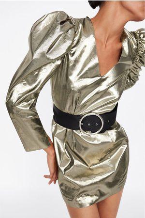 Zara Sukienka mini z bufiastym rękawem