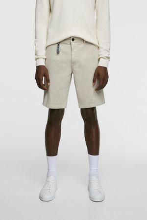 Zara Mężczyzna Bermudy - Spodenki z tkaniny strukturalnej