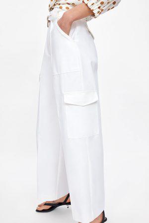 Zara Kobieta Bojówki - Spodnie cargo z kieszeniami