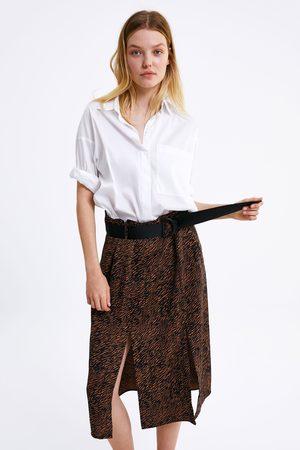 Zara Kobieta Spódnice - Spódnica w zwierzęcy deseń