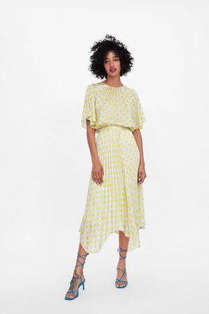 Zara Plisowana spódnica w kropki