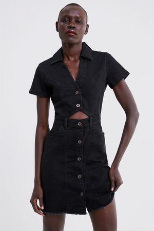 Zara Sukienka jeansowa z guzikami