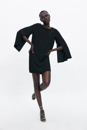 Zara Sukienka z rękawami i rozcięciami