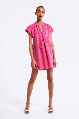 Zara Sukienka w stylu rustykalnym