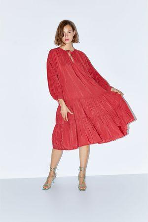 Zara Sukienka z falbankami