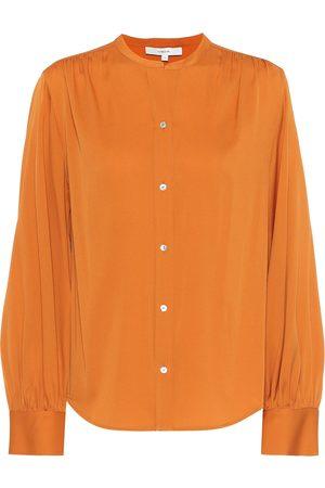 Vince Stretch silk-satin blouse