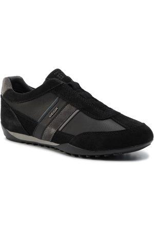 Geox Mężczyzna Buty casual - Sneakersy - U Wells A U82T5A 022ME C9B4N Black/Dk Jeans