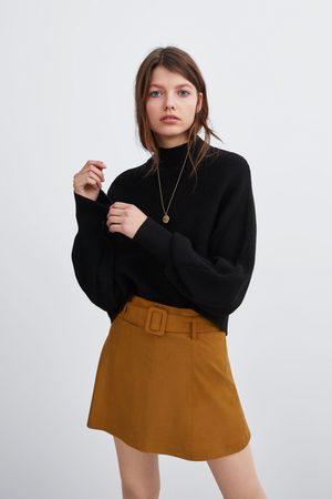 Zara Spódnica mini ze sztucznego zamszu