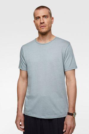 Zara Jednobarwna koszulka deluxe