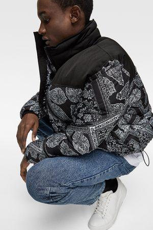 Zara Pikowana kurtka w bandankowy deseń