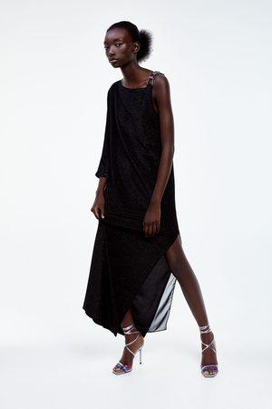 Zara Sukienka z metalizowaną nicią z limitowanej edycji