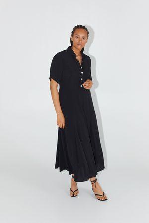 Zara Długa koszulowa sukienka